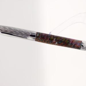 stylo roller personnalisé artisanal-en résine inscrutée de pommes de pin