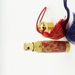 mini vaporisateur de parfum de poche-résine incrustée de pommes de pin