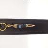 mini porte-clés personnalisé- plaqué or 10k imitation cartouche