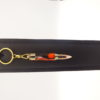 mini porte-clés fait main unique imitation cartouche plaqué-or 10k