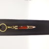 mini porte-clés fait main unique imitation cartouche-plaqué or 10k