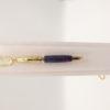 mini stylo bille pendentif collier-aux cristaux de swaroski